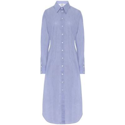 アクネ ストゥディオズ Acne Studios レディース ワンピース シャツワンピース ワンピース・ドレス Cotton-blend shirtdress Powder Blue