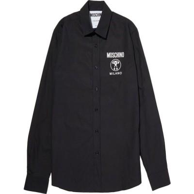 モスキーノ MOSCHINO メンズ シャツ トップス solid color shirt Black