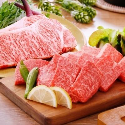 A5等級黒毛和牛サーロインステーキ2枚&焼肉用(計660g)