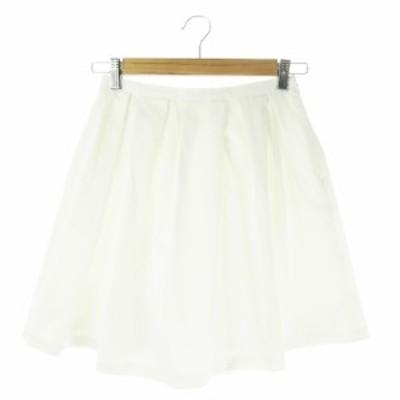 【中古】クローラ crolla スカート フレア ミニ 36 白 ホワイト /AO15 ☆ レディース