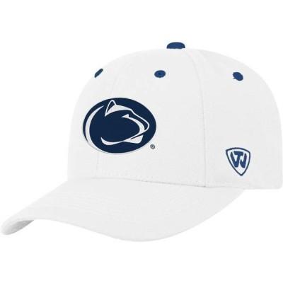 トップオブザワールド メンズ 帽子 アクセサリー Top of the World Men's Penn State Nittany Lions Triple Threat Adjustable White Hat