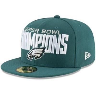 ニューエラ メンズ 帽子 アクセサリー Philadelphia Eagles New Era Super Bowl LII Champions 59FIFTY Fitted Hat Midnight Green