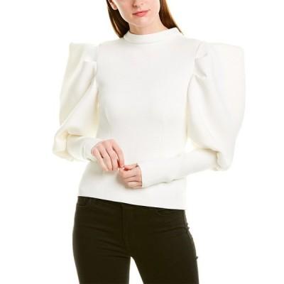 ビューラ シャツ トップス レディース Beulah Structured Blouse white