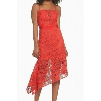 ファッション ドレス Harlyn NEW Orange Womens Size XL Floral Lace Asymmetric Sheath Dress