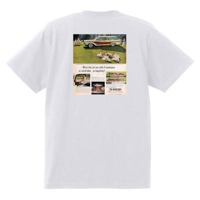 アドバタイジング マーキュリーTシャツ 白 1209 黒地へ変更可 1959 モントクレア モントレー パークレーン レトロ ホットロッド
