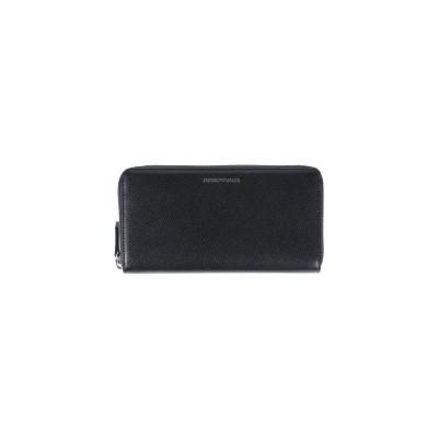 エンポリオ アルマーニ EMPORIO ARMANI 財布 ブラック ポリウレタン 100% / ポリエステル 財布
