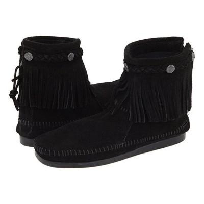 ミネトンカ Hi-Top Back Zip Boot レディース ブーツ Black Suede