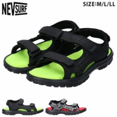 ネブサーフ スポーツサンダル NEV-22 メンズ 軽量 歩きやすい 履きやすい 疲れない