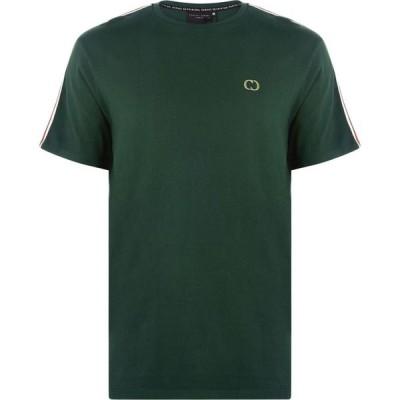 クリミナル Criminal Damage メンズ Tシャツ トップス Arm Stripe T Shirt GREEN