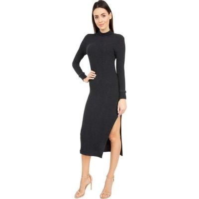 ラメイド LAmade レディース ワンピース タートルネック ワンピース・ドレス All in Asymmetrical Turtleneck Rib Dress Heather Charcoal