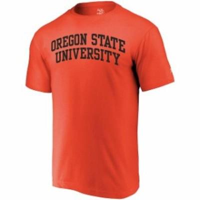 Alta Gracia アルタ グラシア スポーツ用品  Alta Gracia (Fair Trade) Oregon State Beavers Orange Arched Wordmark T-Sh