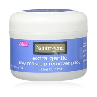 Neutrogena Eye Extra Gentle Makeup Remover Pads 30 Count Jar (6 Pack)【海外平行輸入品】