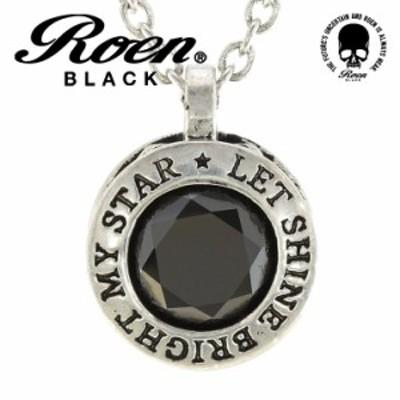 Roen BLACK ロエン スター ペンダント ネックレス シルバーカラー キュービックジルコニア 星 RO-605 ブランド 人気