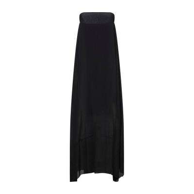 HOPE COLLECTION ロングワンピース&ドレス ブラック L レーヨン 70% / シルク 30% ロングワンピース&ドレス