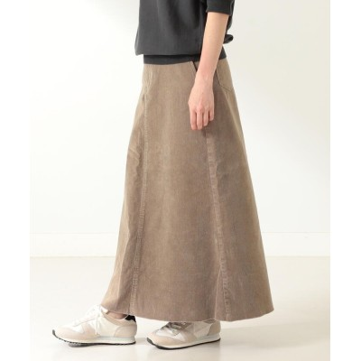 【ビームス ウィメン】 upper hights / 別注 THE LAUREEN コーデュロイスカート レディース カーキ 23 BEAMS WOMEN