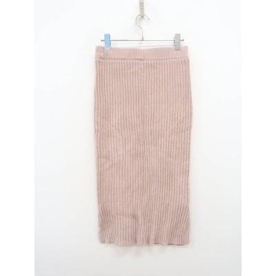 LOWRYS FARM(ローリーズファーム)リブニットタイトスカート ピンク レディース Aランク M [委託倉庫から出荷]