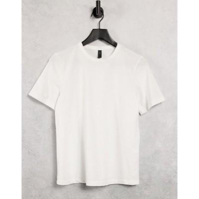 ワイエーエス レディース シャツ トップス Y.A.S t-shirt in white