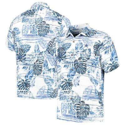"""トミーバハマ メンズ カジュアルシャツ """"Dallas Cowboys"""" Tommy Bahama Super Fan Camp Button-Up Shirt - Navy"""