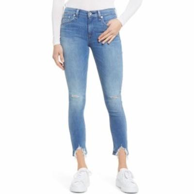 ラグandボーン RAG and BONE レディース ジーンズ・デニム スキニー ボトムス・パンツ Cate Mid Rise Frayed Ankle Skinny Jeans Hazy Da