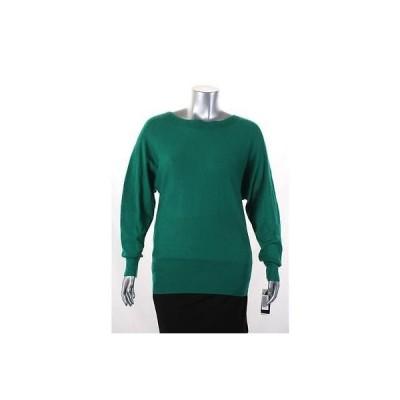 アルファーニ セーター ニット Alfani グリーン Dolman スリーブ Ribbed Scoop Neck セーター サイズ L 59 LAFO