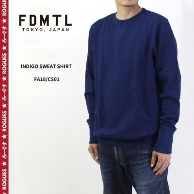 FDMTL ファンダメンタル スウェット INDIGO SWEAT SHIRT FA18/CS01