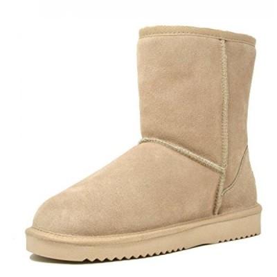 ドリームペア レディース ブーツ DREAM PAIRS Women's Shorty Sheepskin Fur Ankle High Winter Snow Boots
