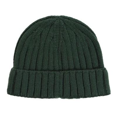LOVERS' LANE 45帽子ニットキャップ 931601-D.GRNグリーン