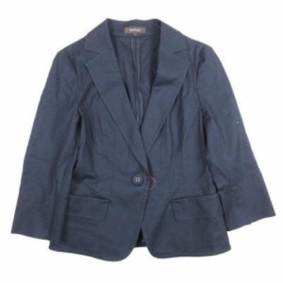【中古】リフレクト Reflect コットン テーラード ジャケット 九分袖 シングル 1B ブレザー ブルゾン 11 ネイビー 紺