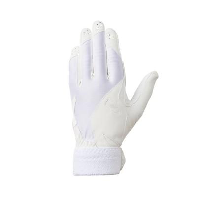 【デサント】 学生用パッド付き守備用グラブ(左手用) メンズ ホワイト系 L DESCENTE