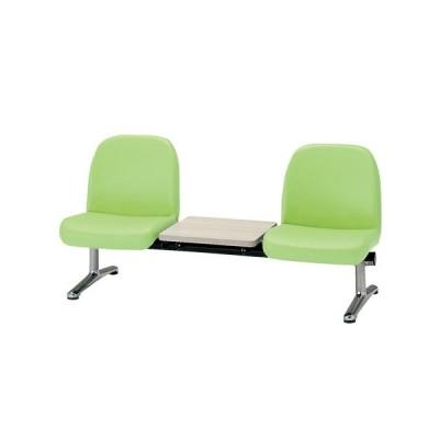 【法人限定】 ロビーチェア 2人用 ベンチ テーブル付き 抗菌 防汚 カラフル 椅子 チェア ロビー オフィス LA-2TL