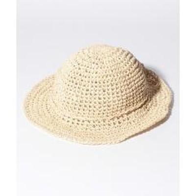 BASE(ベース)リボン付きキッズ麦わら帽子