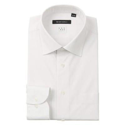 【NON IRON STRETCH】ワイドカラードレスシャツ ストライプ 〔EC・BASIC〕