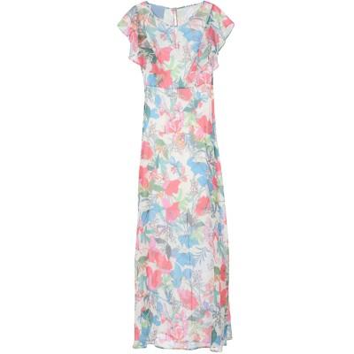 MIA SULIMAN ロングワンピース&ドレス ホワイト 42 ポリエステル 100% ロングワンピース&ドレス