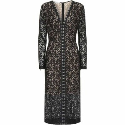 ステラ マッカートニー Stella McCartney レディース ワンピース ミドル丈 ワンピース・ドレス Lace midi dress Black