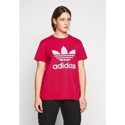 アディダス レディース ファッション TREFOIL TEE - Print T-shirt - power pink/white