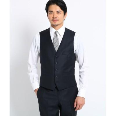【タケオキクチ】 シャドーオルタネイトストライプベスト Fabric by MIYUKI KEORI メンズ ダークネイビー 02(M) TAKEO KIKUCHI