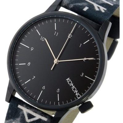 コモノ KOMONO Winston Rune-Black クオーツ メンズ 腕時計 KOM-W2160 ブラック