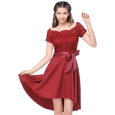 パーティー ドレス レース カクテル イブニング ドレス