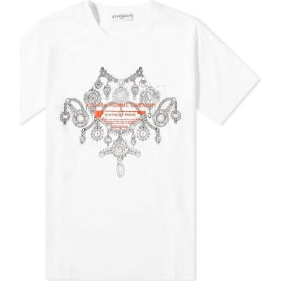 ジバンシー Givenchy メンズ Tシャツ トップス jewellery studio homme tee White