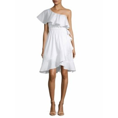 サックスフィフスアベニュー レディース ワンピース One-Shoulder Ruffle Dress