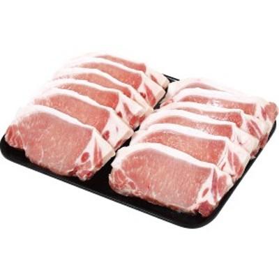 【送料無料】国産和豚もちぶた(三元豚) ロースステーキ(12枚) MPWMTR12【代引不可】【ギフト館】