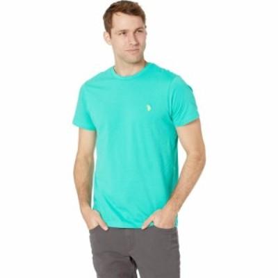 ユーエスポロアッスン U.S. POLO ASSN. メンズ Tシャツ トップス Crew Neck Small Pony T-Shirt Pool Green