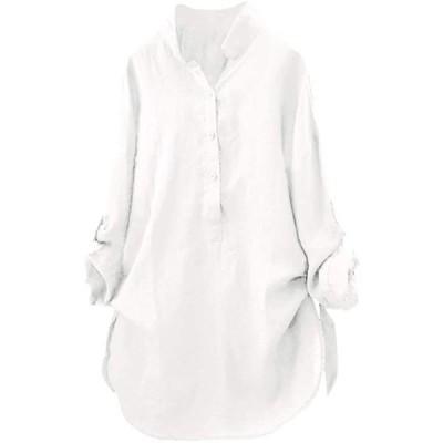 体型カバ— 綿麻 ビッグシルエット 創意デザイン カジュアル 快適 部屋 ロング ワードショルダー 袖なし タンクトップ 七分袖 可愛い 無地シャツ
