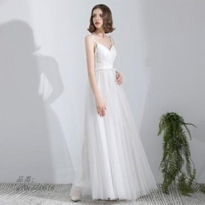 ウェティグドレス 結婚式 大きいサイズ 二次会 おしゃれ Aラインドレス パーティードレス ロングドレス 挙式 安い 前撮り 披露宴 花嫁 発