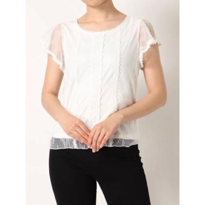 dazzlin レースTシャツ(オフホワイト)