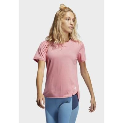 アディダス レディース スポーツ用品 GO TO TEE - Basic T-shirt - hazros/white
