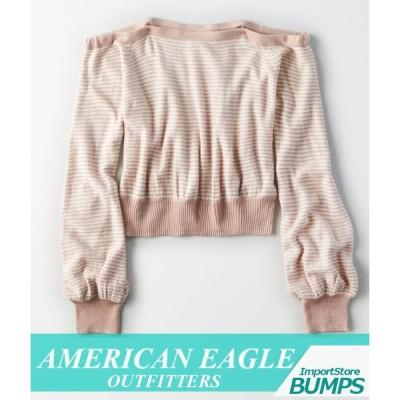アメリカンイーグル セーター ニット レディース ウィメンズ オーバーサイズ ドリームスパン Vネック トップス 新作 AEO