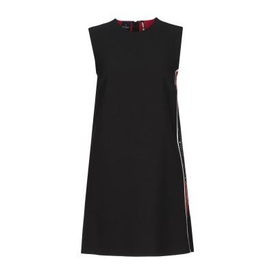 PINKO UNIQUENESS ミニワンピース&ドレス ブラック 40 ポリエステル 96% / ポリウレタン 4% / コットン / レーヨン