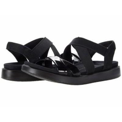 エコー レディース サンダル シューズ Flowt Elastic Sandal Black Patent