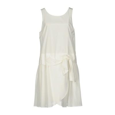 エンポリオ アルマーニ EMPORIO ARMANI ミニワンピース&ドレス ホワイト 40 52% コットン 48% シルク ミニワンピース&ドレス